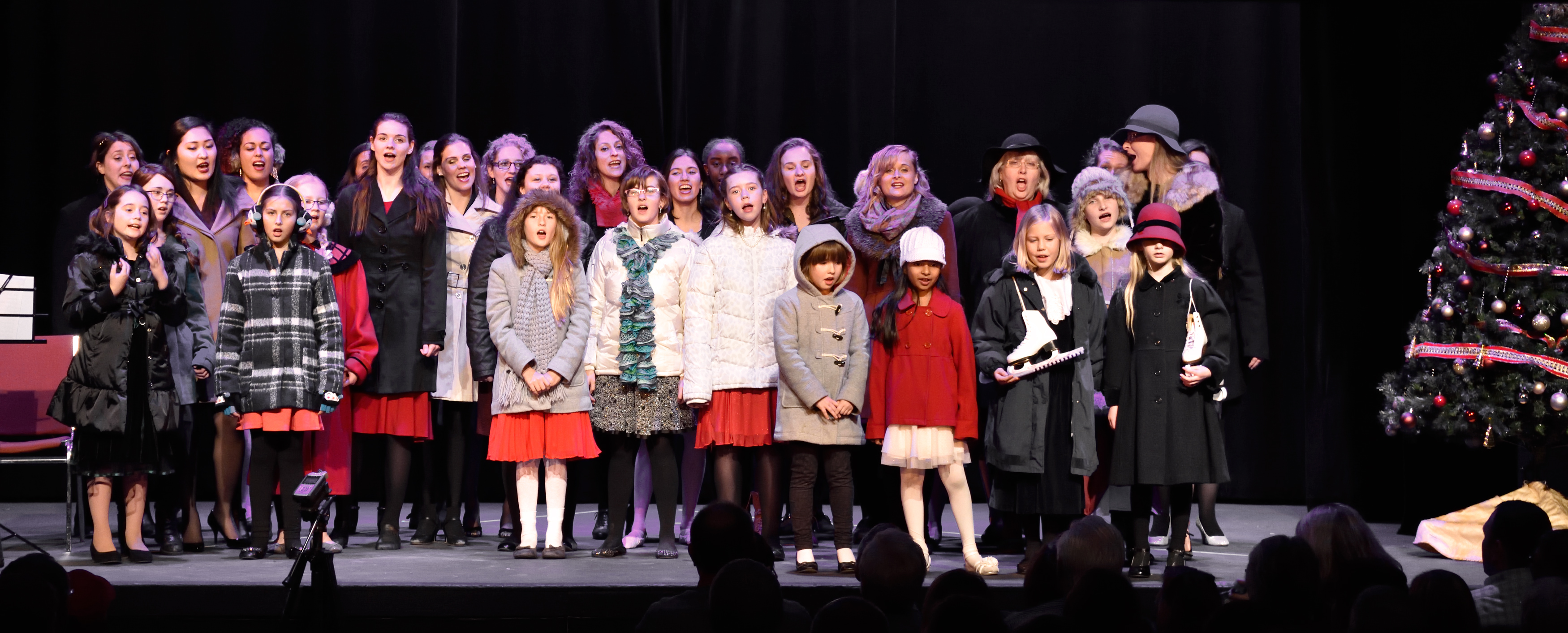 Youth singers at christmas show