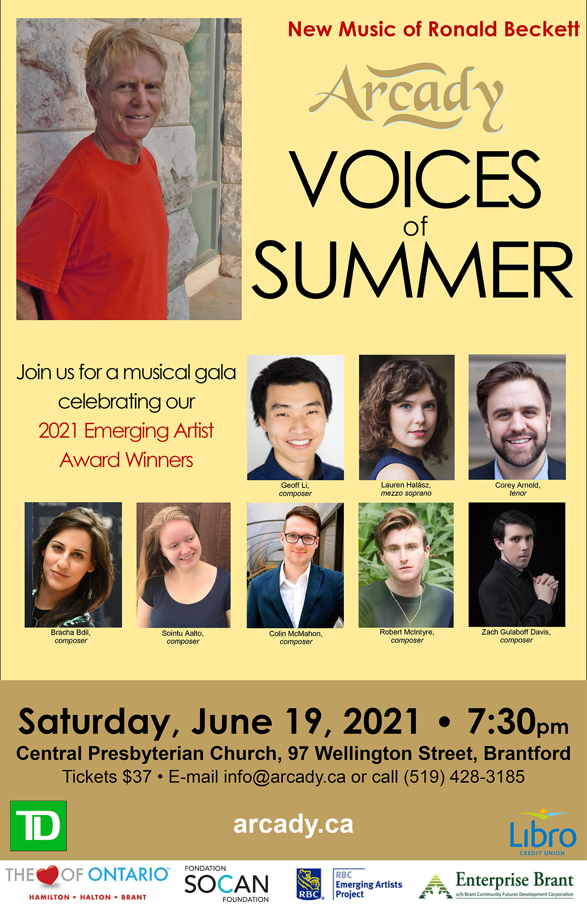 Voices of summer 2021 poster